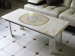 table console ou objet en marbre personalis s. Black Bedroom Furniture Sets. Home Design Ideas